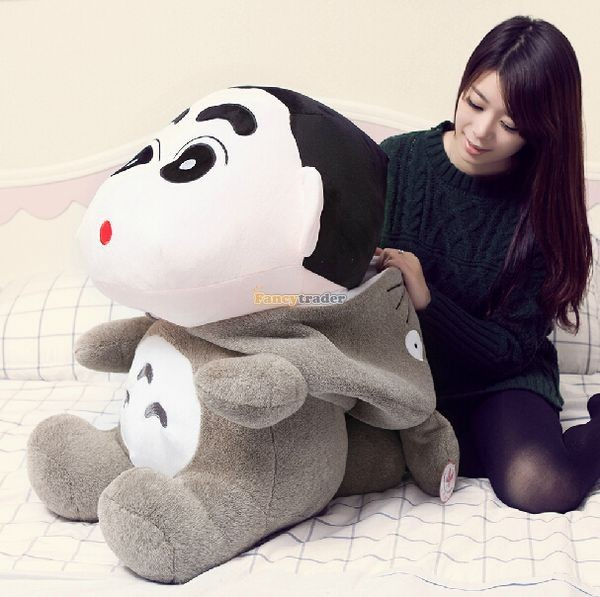 Fancytrader 31\'\' 78cm Giant  Funny Stuffed Soft Plush Totoro Crayon Shin-chan, Free Shipping FT50395 (3)