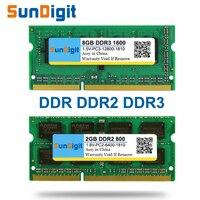 Brand SunDigit Laptop Memory Ram DDR1 DDR2 DDR3 400MHz 800MHz 1333MHz 1600Mhz 8GB 4GB 2GB 1GB