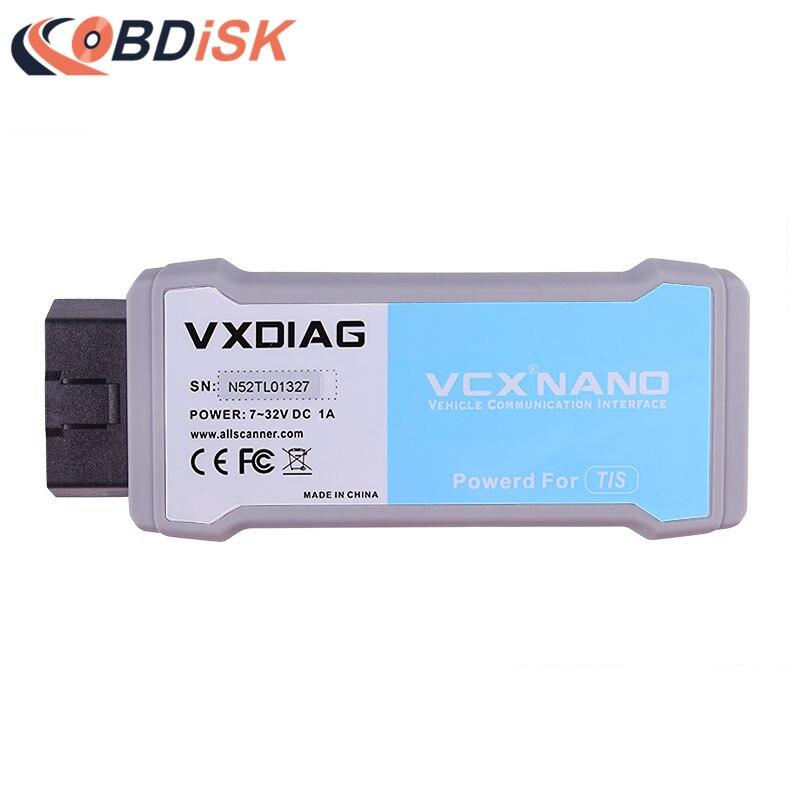 Цена за Оригинальный vxdiag VCX Nano для TOYOTA ТИС Techstream V10.30.029 Wi-Fi сканер Совместимость с sae J2534 Бесплатная доставка