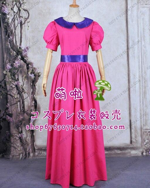 Free Shipping Princess Party Costume Super Mario Bros Peach Bubble