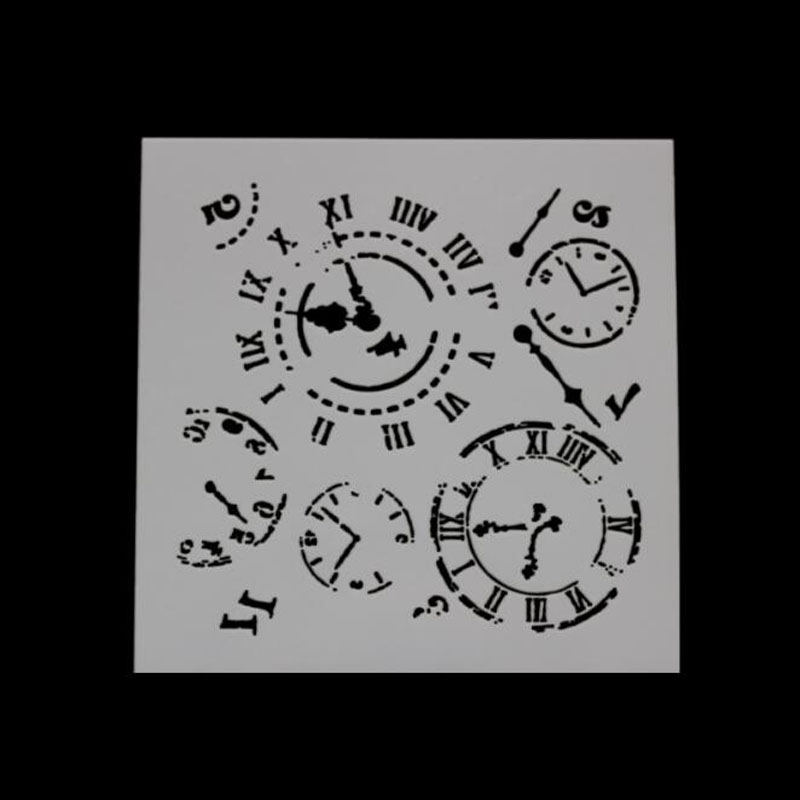 Stencils For Wall Clock Shape Painting Scrapbooking Stamping Album Decorative Embossing Paper Template Bullet Journal Stencil