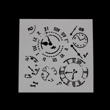 Stencils For Wall Clock Shape Painting Scrapbooking Stamping Album Decorative Embossing Paper Template Bullet Journal Stencil 6pc template stencils for painting and decoration scrapbooking photo album decorative embossing wall bullet journal stencils
