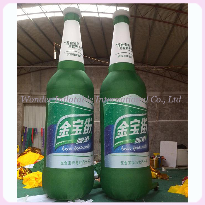 10ft advertising inflatable bottle, giant inflatable beer bottle, inflatable wine bottle