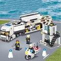 Estación de policía kazi 6727 bloques de construcción de ladrillos de juguetes educativos para niños bloques de construcción de regalos para los niños