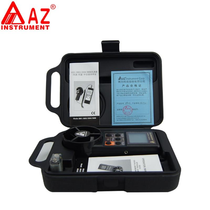 AZ8904 anémomètre numérique portatif compteur de vitesse du vent testeur de vitesse du vent instruments de mesure électroniques - 4