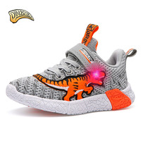 Dinoskulls Kids Shoes Boys Light Up 3D Dinosaur Children's Sneakers Led Shining Running Trainers 2019 Spring Glowing Sneakers