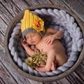 Cartoon Baby Photo Props Infant Winter Crochet Knit Flower Hat Cap Baby Boys Girls Beanie for Newborn Photography Prop