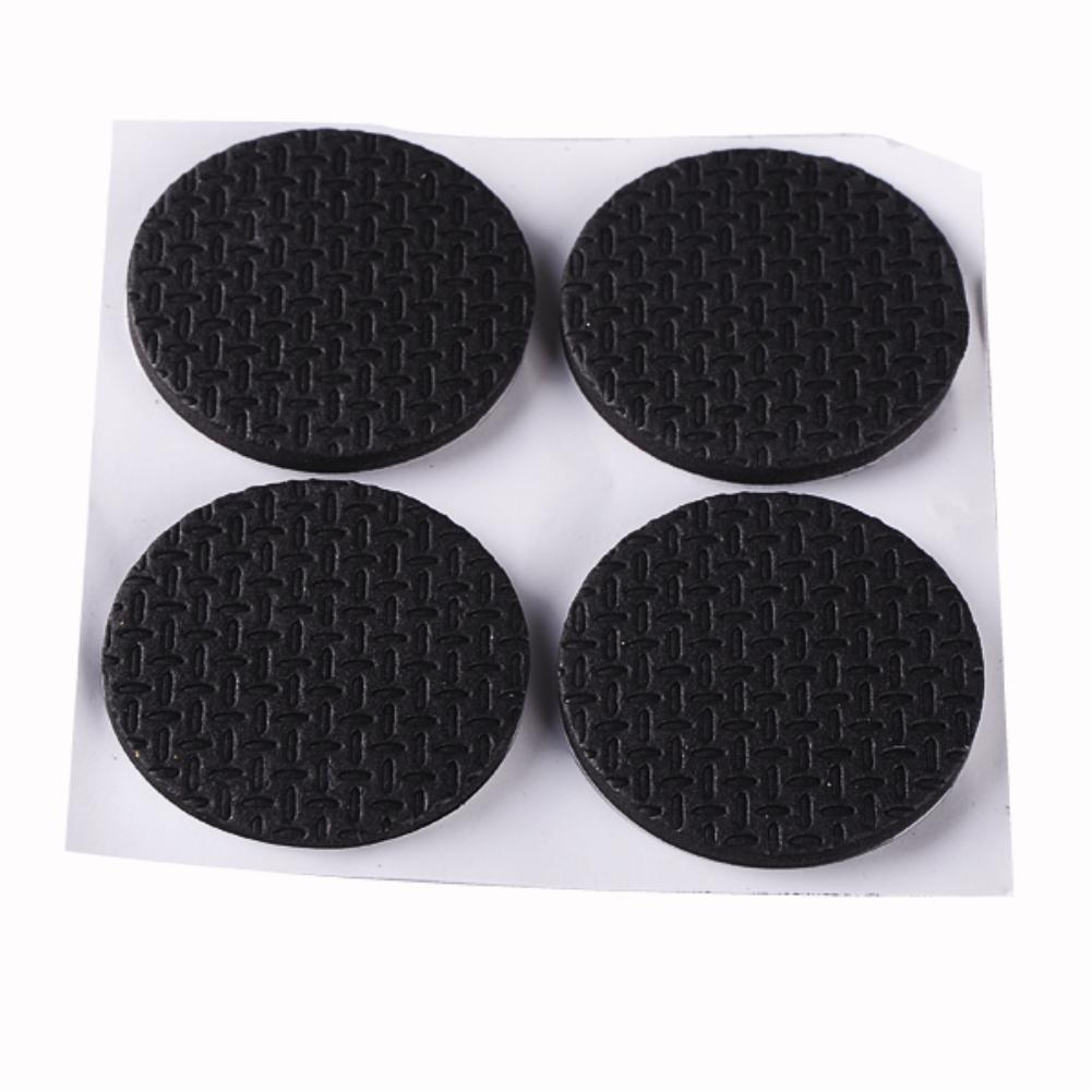 Black Strong Adhesive Table/Chair Adhesive Furniture Desk Table Sofa Leg Non-slip Rug Circle Pad Protector