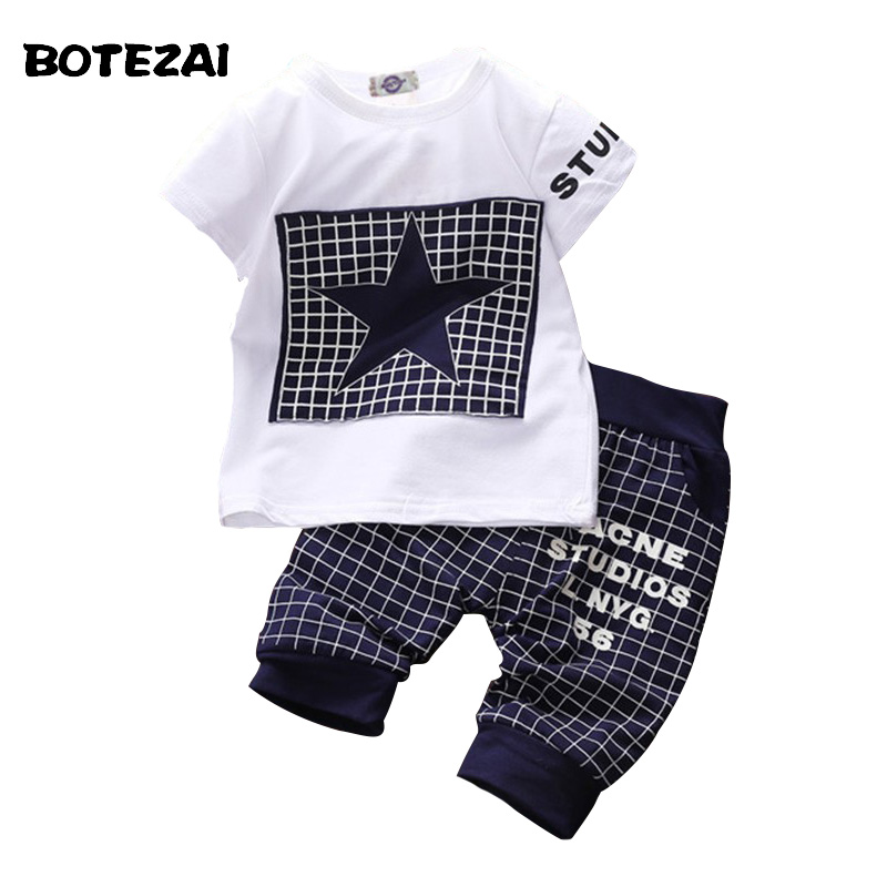 Baby boy clothes 2016 Brand summer kids clothes sets t-shirt+pants suit clothing set Star Printed Clothes newborn sport suits baby boy clothes 2017 brand summer kids clothes sets t shirt pants suit clothing set star printed clothes newborn sport suits