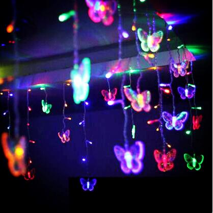 2x1 M Led Vlinder Gordijn Lichten Guirlande Navidad Mooie Decoratie Led Kerstverlichting Voor Wedding Holiday Cortina De