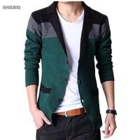 2014 Classic Design Men Blazers Fashion Stitching Knitting Men Suit Slim Autumn Cotton Jacket For Men
