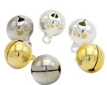 Pendentifs en forme De cloches en Argent, 500 pièces, Suspendus, Arbre De fête, Accessoires artisanaux, bricolage, 8mm
