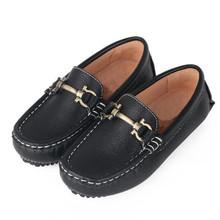 New British style Children Shoes Spring/Autumn Loafers Boys Genuine Leather Shoes Baby Student Casual Kids Black Shoes 02B children kids boys leather shoes genuine leather shoes new black autumn boys school uniform dress shoes casual oxfords wide fit