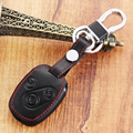 Genuine leather car key cover case for HONDA for Accord CR-V Civic Fit Freed StepWGN keyring keychain holder 3 buttons