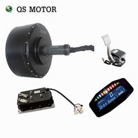 QSMOTOR 72V dual motor kits 12000w Electric in wheel hub motor with 700A kelly controller conversion kits