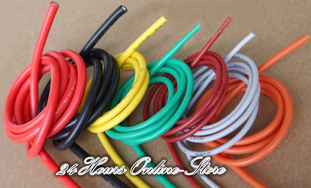 20 AWG Flexible Silicone Wire RC Cable 20AWG 100/0.08TS OD 1.8mm ...