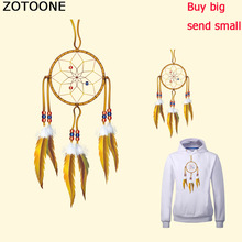 ZOTOONE New Gold Feathers Dreamcatcher Iron on Patches for Clothing Heat Transfer DIY T-Shirt Decoration Printing F