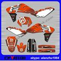 FREE SHIPPING TOP QUALITY HUSQVARNA TE610 06 3M TEAM GRAPHICS DECALS STICKERS KITS DIRT BIKE