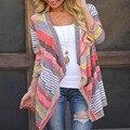 Boho Womens Cardigan Suéter Flojo Outwear Chaqueta de Punto Tops Coat TW5351