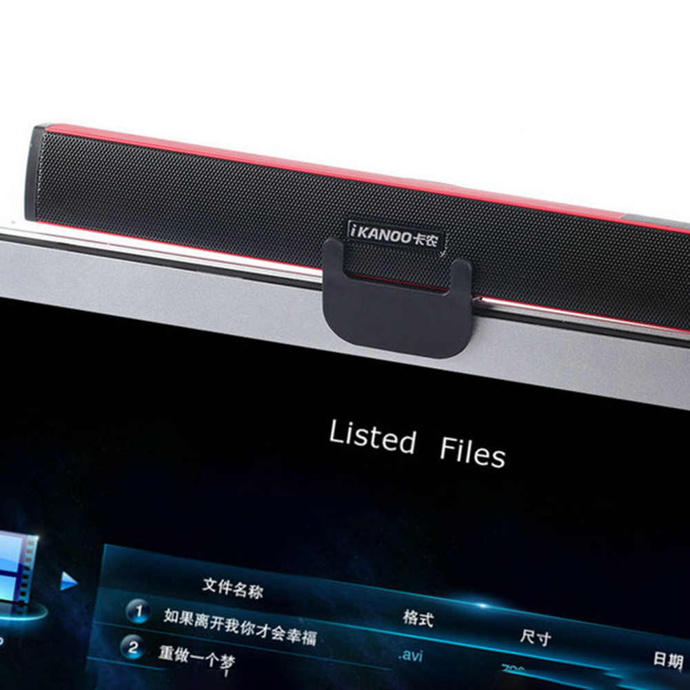 IKANOO N12 Portable USB Kabel Speaker Stereo Musik Player untuk Komputer Laptop Portabel USB Kabel Speaker Stereo