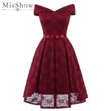 Nowa seksowna krótka koronkowa suknia wieczorowa wino czerwona różowa linia formalna sukienka na przyjęcie Homecoming Graduation sukienki z szarfą Robe De Soiree
