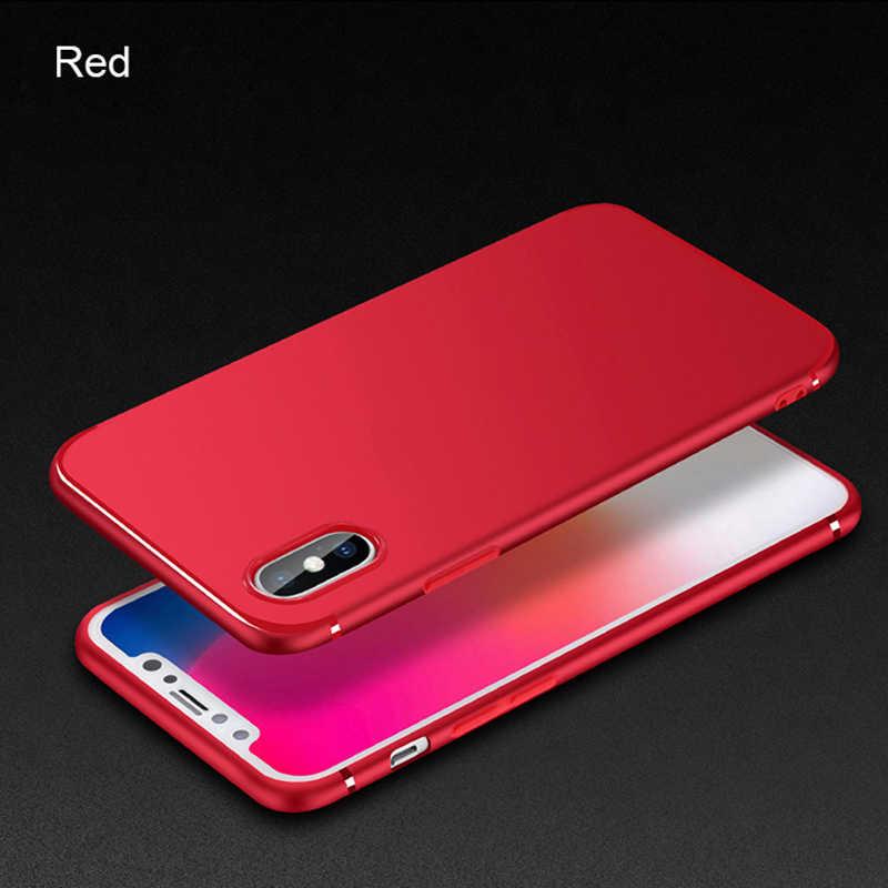 Ultra Dunne Telefoon Case Voor iPhone X 10 8 7 6 5 S 5 S SE 6S Plus 6 plus 6SPlus 7Plus 8Plus Shockproof TPU Silicon Cover