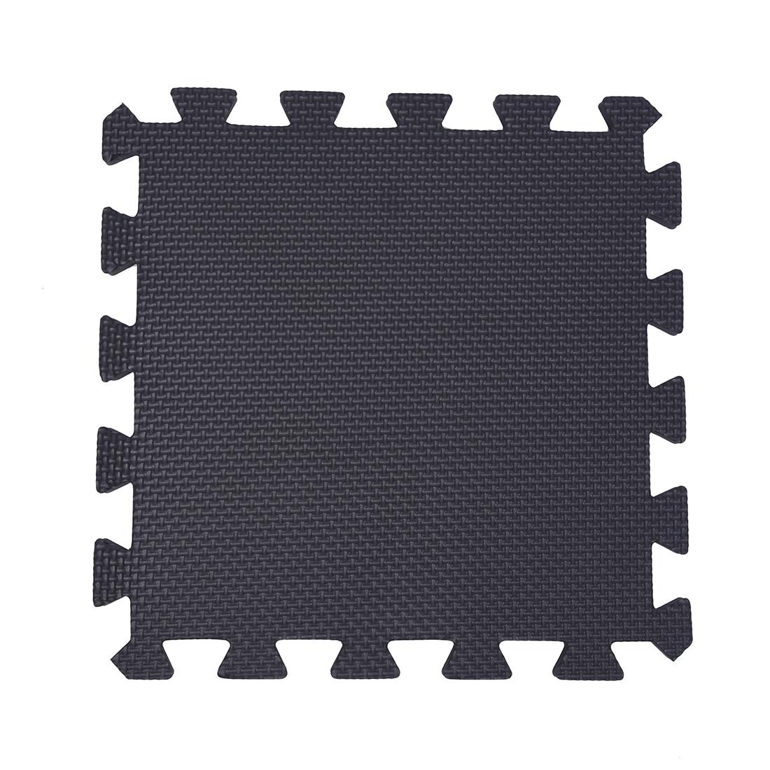 New 10 Piece Eva Foam Puzzle Exercise Mat Interlocking Floor Tiles -- White And Black
