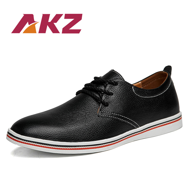 AKZ Brand Mens Casual Shoes 2018 New Spring summer High Quality Artificial leather Comfortable Male casual Shoes lace-up 39-47 2017 new arrival spring men casual shoes mens trainers breathable mesh shoes male hombre hip hop street shoes high quality