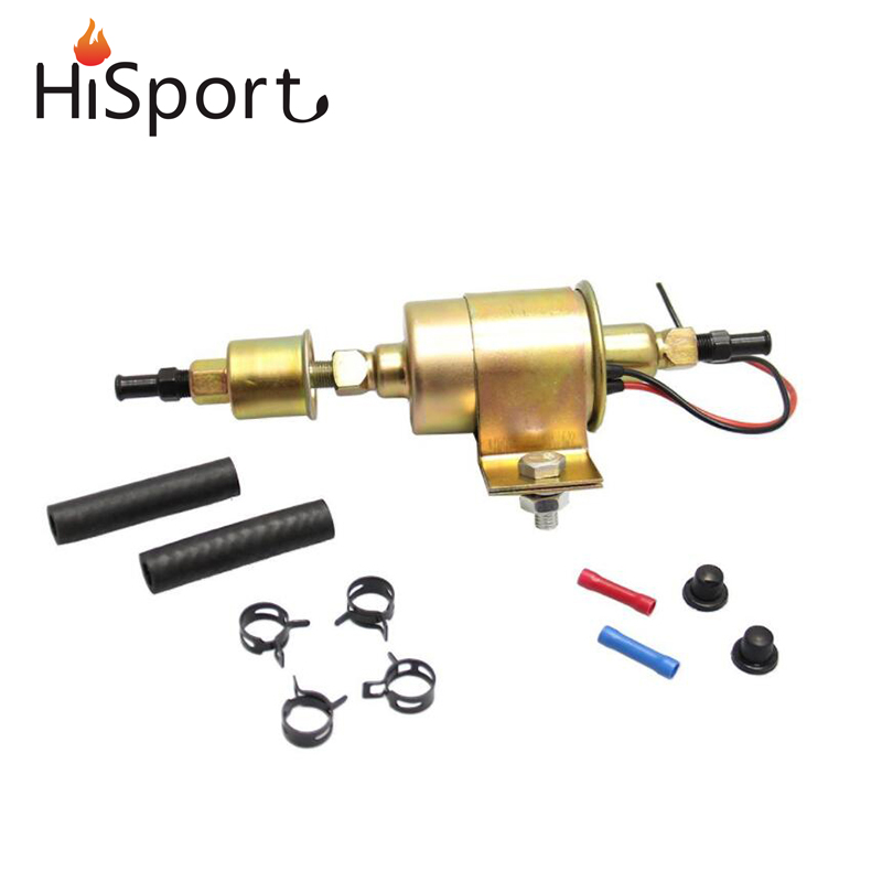 24V Universal 5-9 PSI 30GPH Electric Low Pressure Gasoline Fuel Pump Installation Kit E8016S For BWM