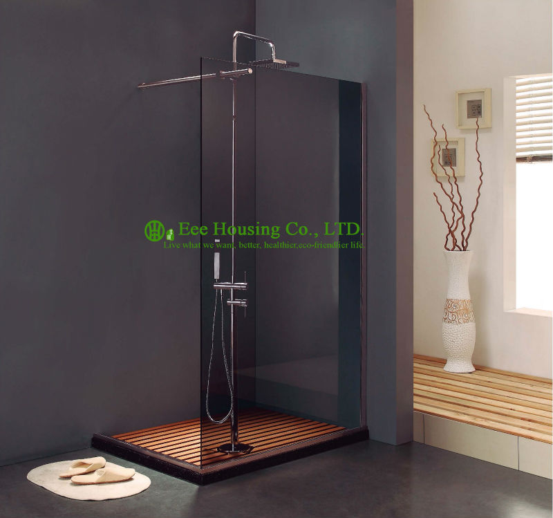 Shower Room Walk-in Opened Bathroom French Shower Enclosure,Stainless Steel Walk In Glass Shower Screen