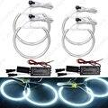 4 Pçs/set Branco CCFL Halo Anéis Luz Dos Olhos do Anjo Do Carro Kits de Farol para BMW E46 (NÃO projetor) Auto luz # J-4174