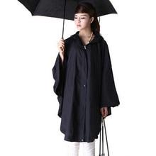 raincoat Womens Waterproof Packable Rain Jacket Batwing-sleeved Poncho Raincoat
