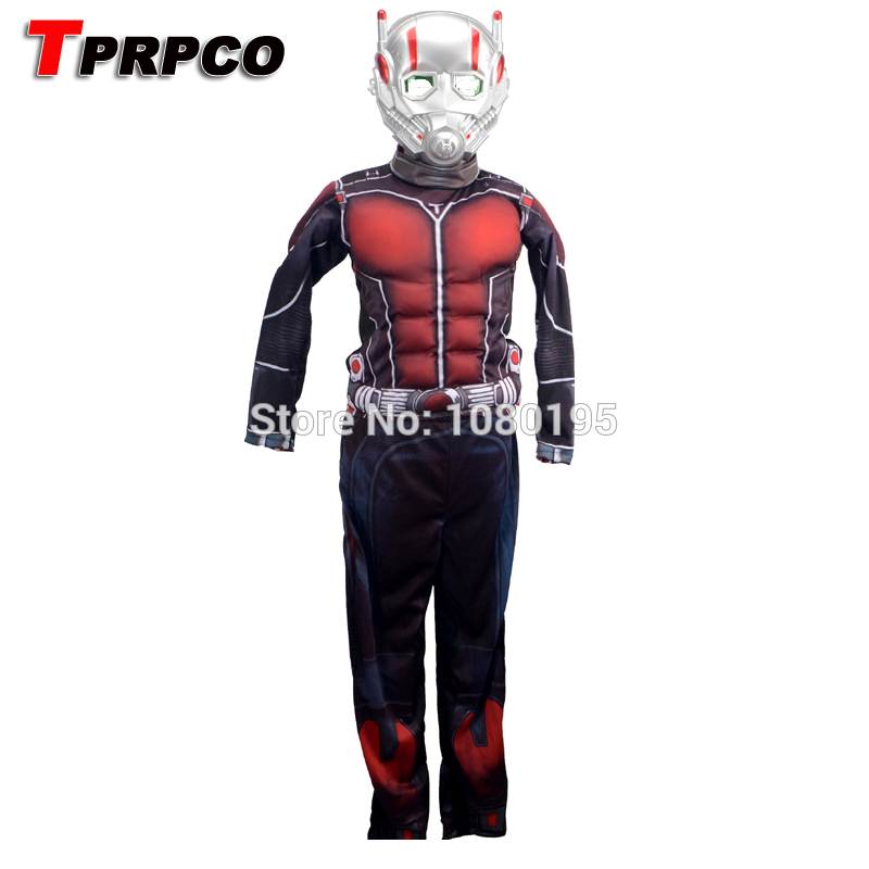 TPRPCO Child Deluxe Ant man Muscle Costume Boys Halloween Superhero Fancy Dress Outfit For Kids N119