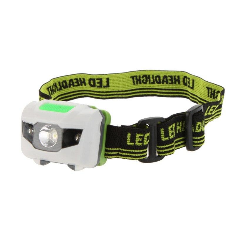 3 Modes 2LED Red 3W Mini White Hiking Camping LED Headlight Flashlight Night Fishing Riding Cycling Head Lamp