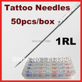 50 x 1RL Tattoo Needles  Disposable Round Liner sterile Sterilized Tattoo Machine Needles Free Shipping