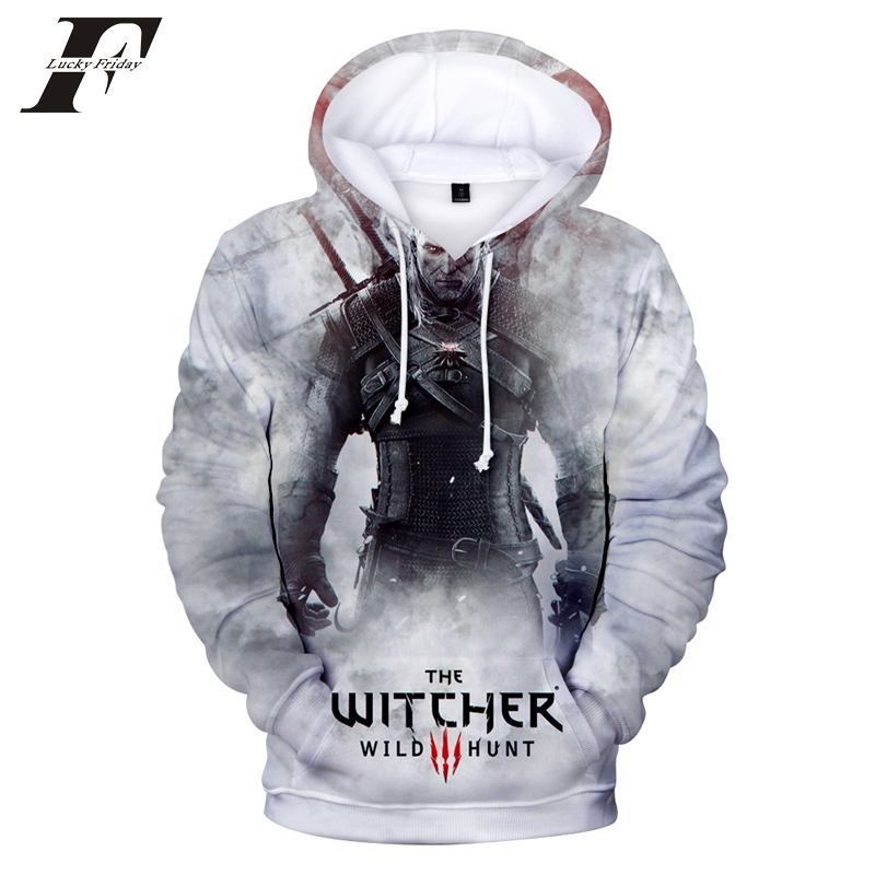 2018 hit Hot Game 3D The Witcher 3 cotton Hoodies sweatshirts Men Women Couple Sweatshirt Harajuku long sleeve Cool Pullovers