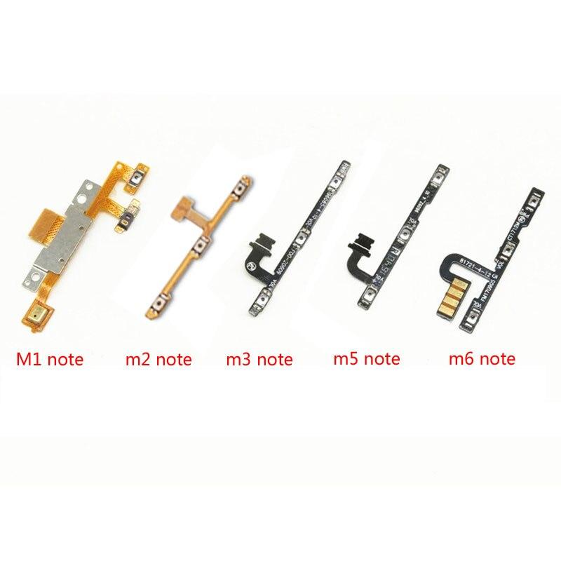 1PCS Power On Off Volume Up Down Button Key Flex Cable Replacement Repair Spare Parts For Meizu M1 M2 M3 M5 M6 Note L681H