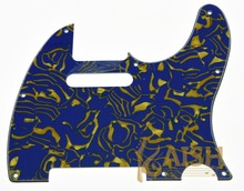 Guitar Pickguard Scratch Plate Blue/Yellow Shell for TL 3 Ply