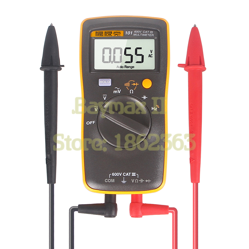 Fluke 101 Auto Range Digital Multimeter for AC/DC Voltage,Resistance,Capacitance and Frequency Measurement 100% original fluke 15b f15b auto range digital multimeter meter dmm