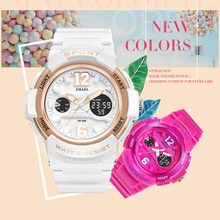 Ladies Watch LED Waterproof Rose Gold White Women Watch Top Brand Quartz Watch Bracelet 1632 Relogio Feminino Girls Watches
