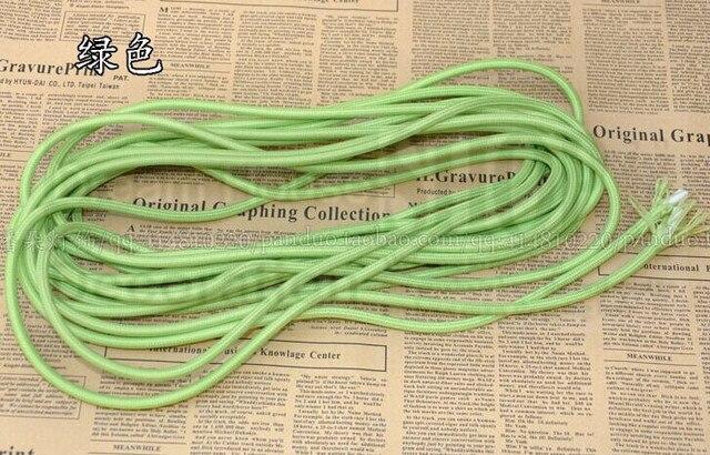 10 mt/los 2x0.75mm2 Vintage grüne farbe Elektrische Draht ...
