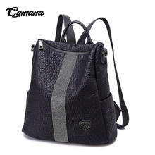 CGMANA Diamond Backpacks Female 2018 High Quality Soft Leather Women Backpack Traveling Mochilas Mujer