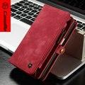 S7 Case CaseMe Марка Официальный Магазин, роскошные Натуральная Кожа Материал Съемная 2 в 1 Бумажник + Денежные Слоты, новый для iphone 6 6 plus