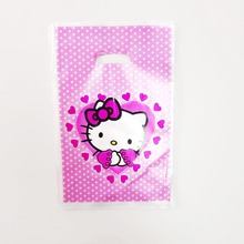 320c4a7e48fd 10pcs hello kitty gift bag candy loot bag cartoon theme party  festival event birthday decoration favor