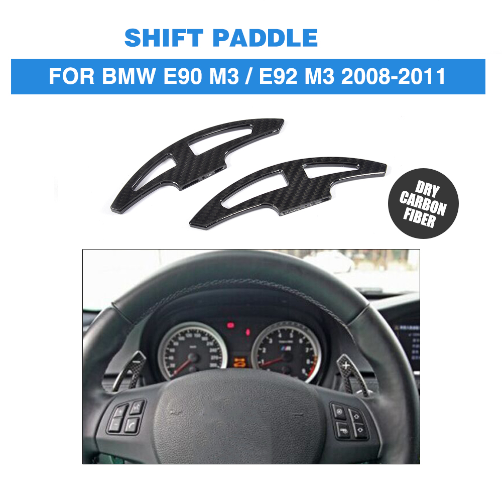 Steering Wheel DRY Carbon Fiber Shift Paddle Shifter Extension for BMW 3 Series E90 E92 M3 2008-2011 Sedan 4 Door Coupe 2 Door zhelda платье до колена