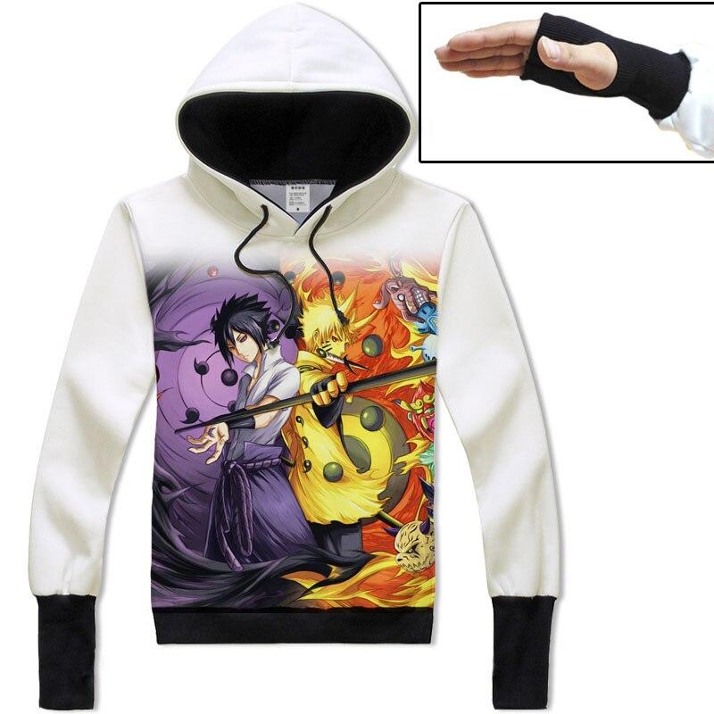 Hoodies Cartoon Anime font b Cosplay b font Costumes Prevent cold sleeves font b NARUTO b