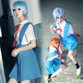 Halloween Women Neon Genesis Evangelion Cosplay Asuka Langley Soryu Tokyo Ayanami Rei Costume School Uniform