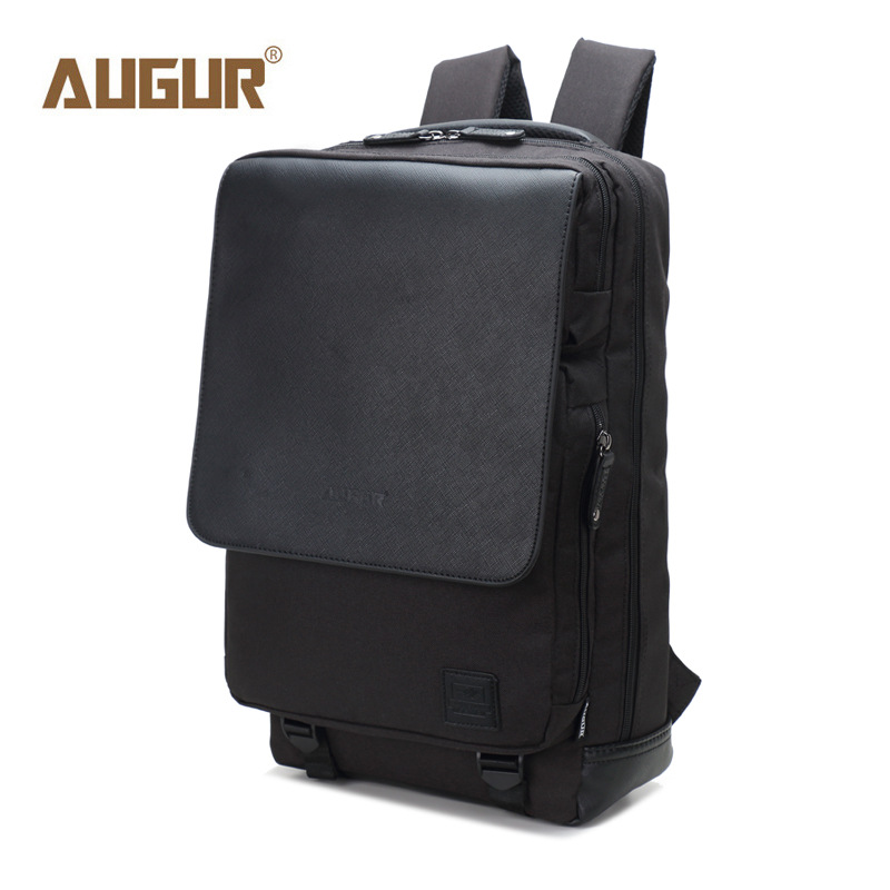 New AUGUR Men's Backpacks Bolsa Mochila for Laptop 14 Inch 15 Inch Notebook Computer Bags Men Backpack School Rucksack Black bagsmart new men laptop backpack bolsa mochila for 15 6 inch notebook computer rucksack school bag travel backpack for teenagers