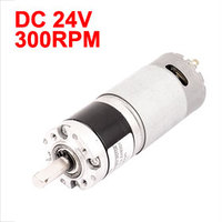 UXCELL Hot Sale 1 Pcs DC 24V 300RPM High Torque 8mm Shaft Dia Low Speed Solder Cylindrical Gear Box Motor