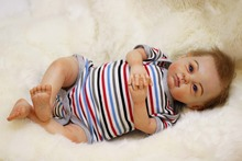 Realistic 22″ baby-reborn dolls 100% handmade soft touch super high quality doll reborn girl gift bonecas reborn de silicone